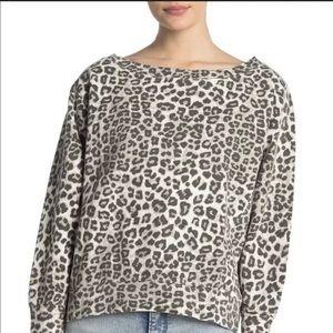NEW $159 Good American Cheetah Print Sweatshirt